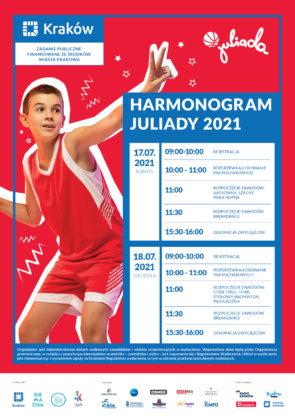 Plakat Juliady z harmonogramem wydarzeń
