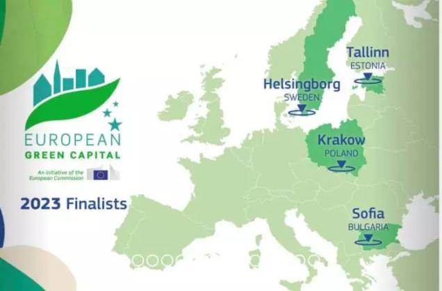 Grafika z mapą Europy, z zaznaczonymi 4 krajami, Polską, Estonią, Szwecją i Bułgarią