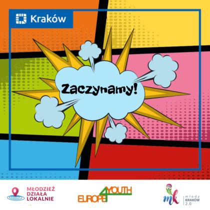 Grafika promująca nabór do programu Młodzież Działa Lokalnie z hasłem zaczynamy.